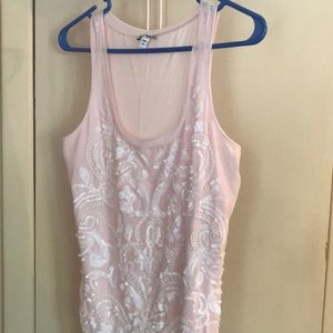 SP express beeded tank top light pink